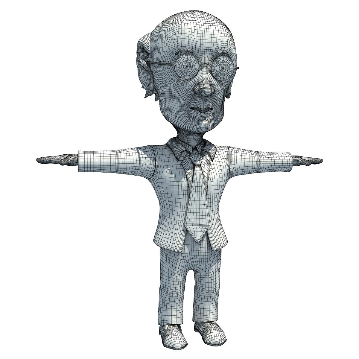 Cartoon Teacher 3D Model
