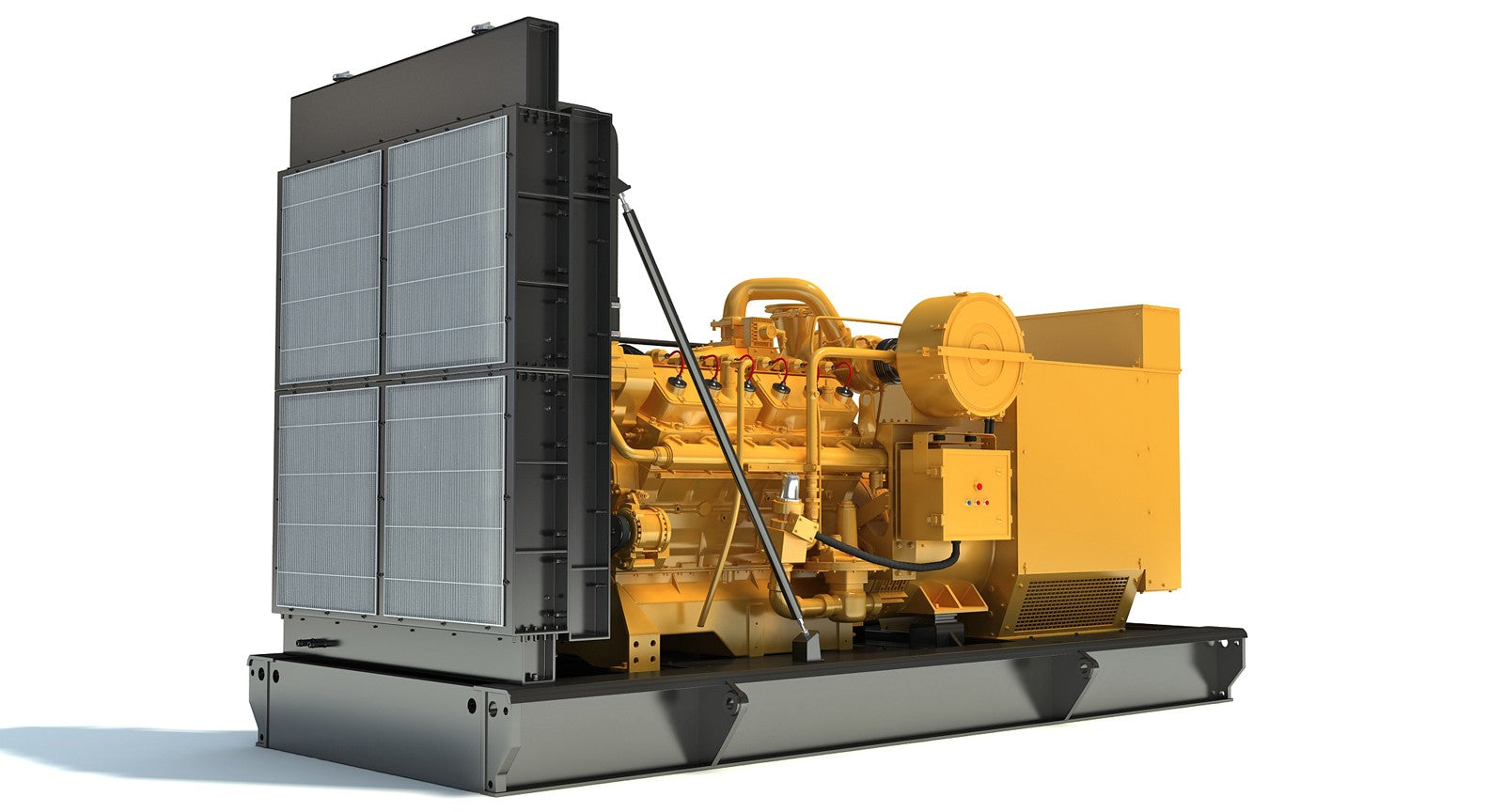 Cat Gas Generator Engine 3D Model