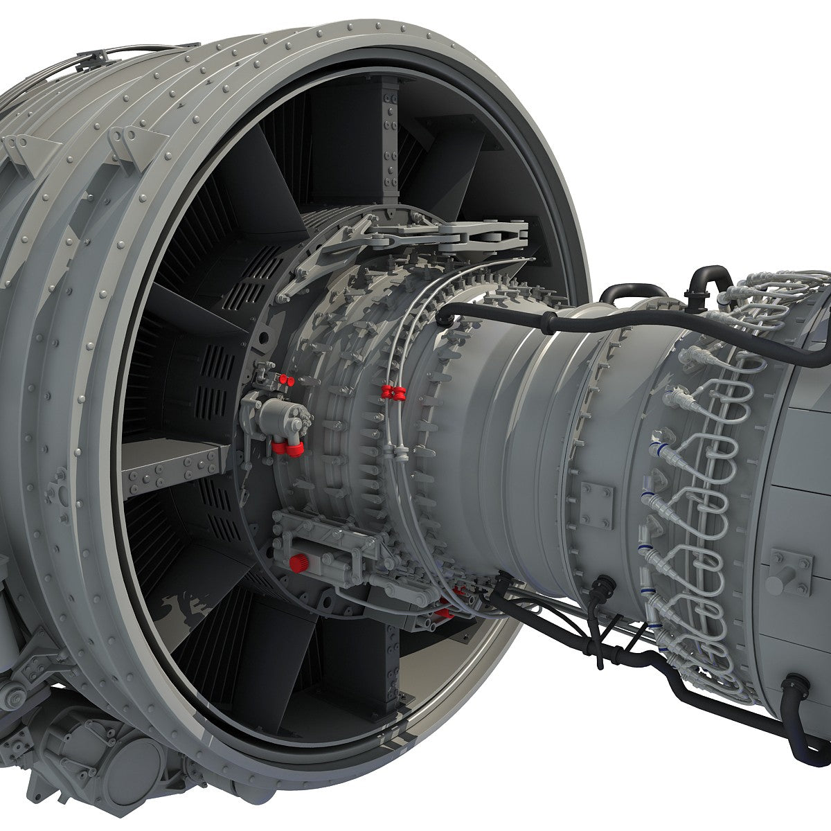Turbofan Engine 3D Model
