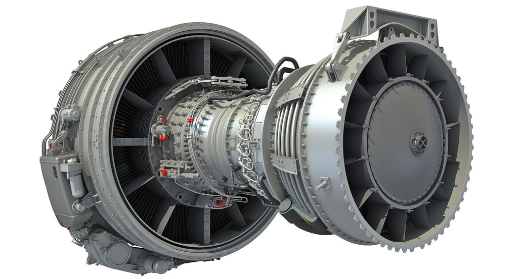 CFM56 Turbofan Engine 3D Model