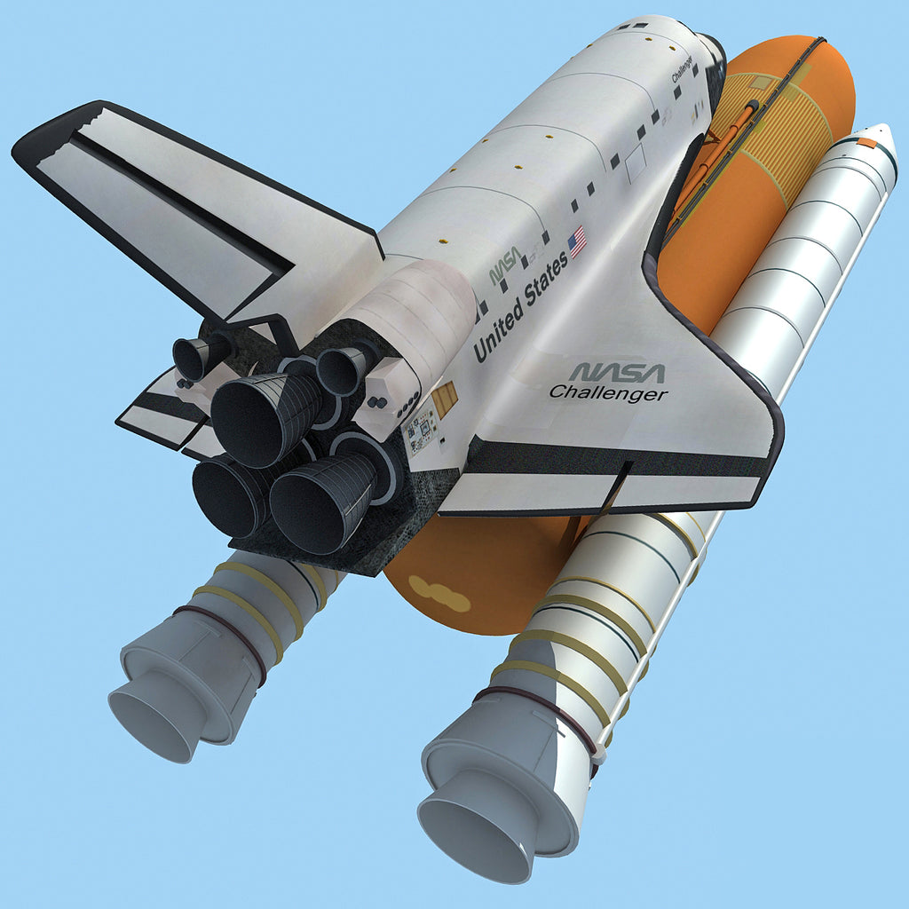3D Space Shuttle Challenger NASA