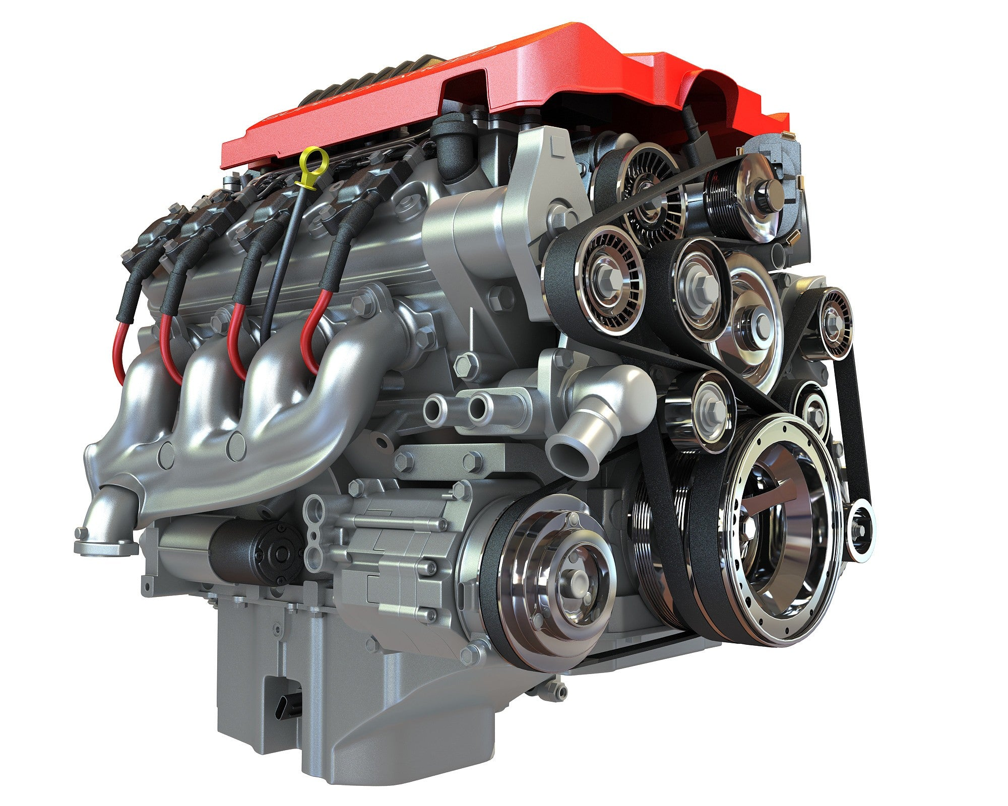 Chevrolet Camaro V8 3D Engine Model