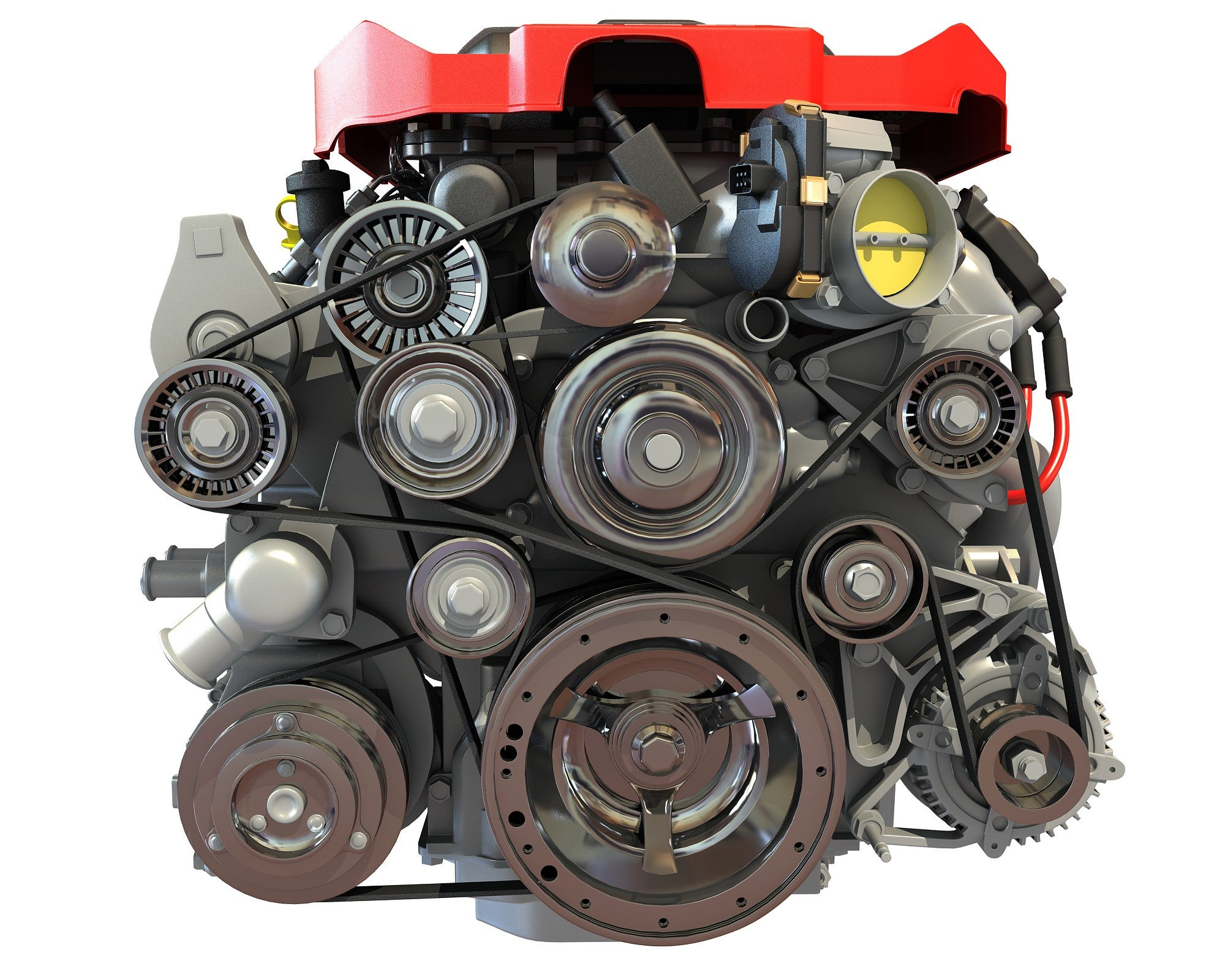 Chevrolet V8 3D Engine Model