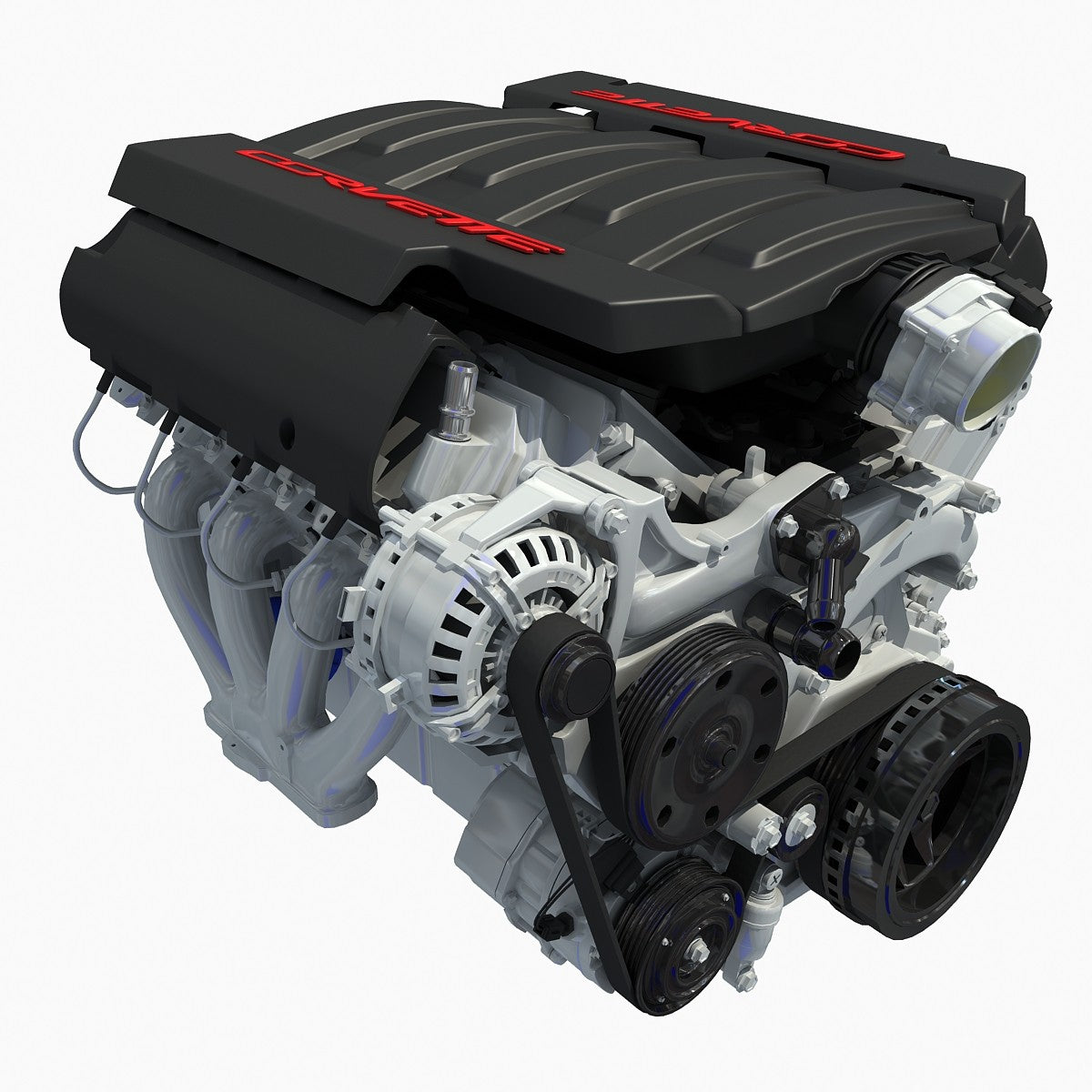 3D Models Chevrolet Corvette V8 Engine