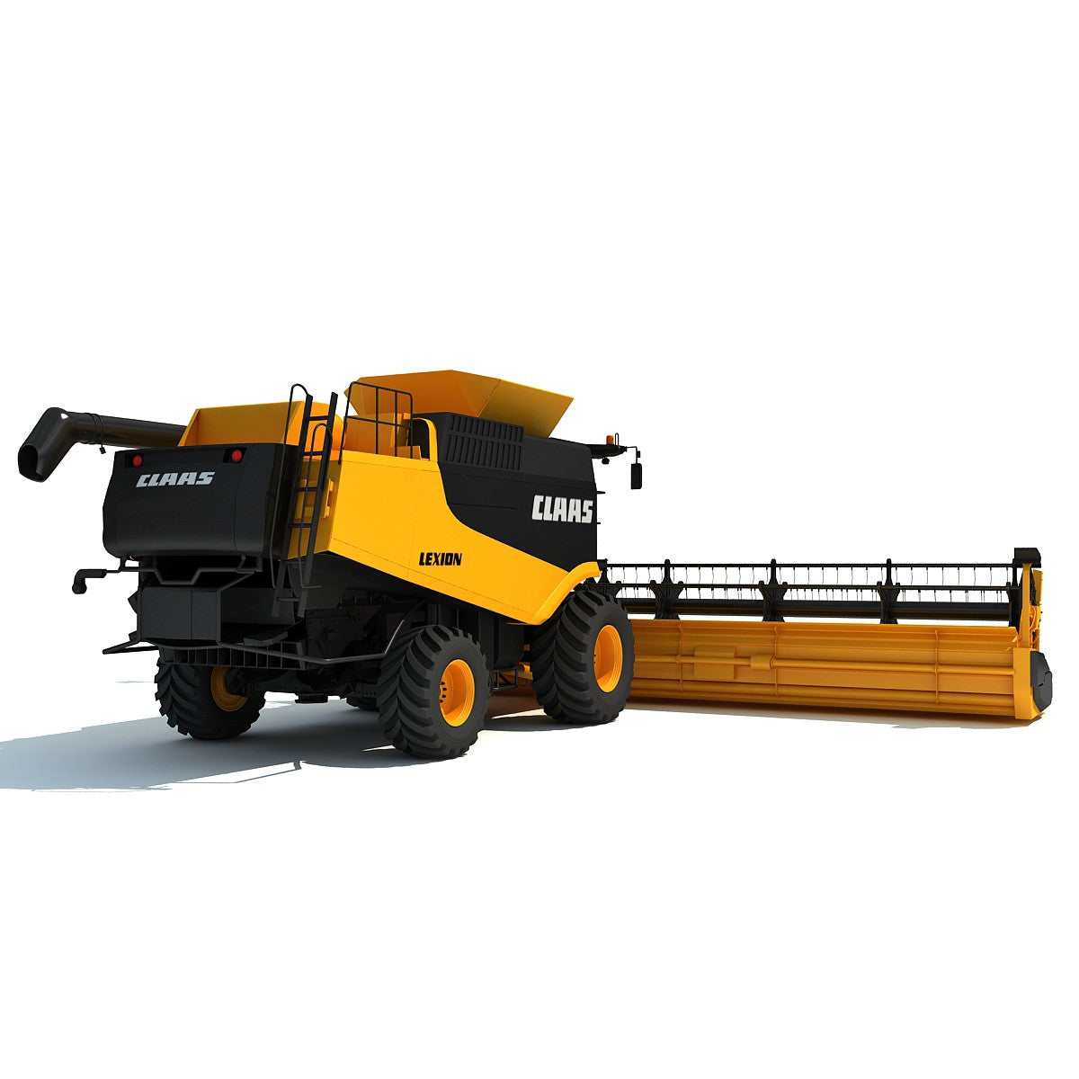 Claas Lexion Combine 3D Model