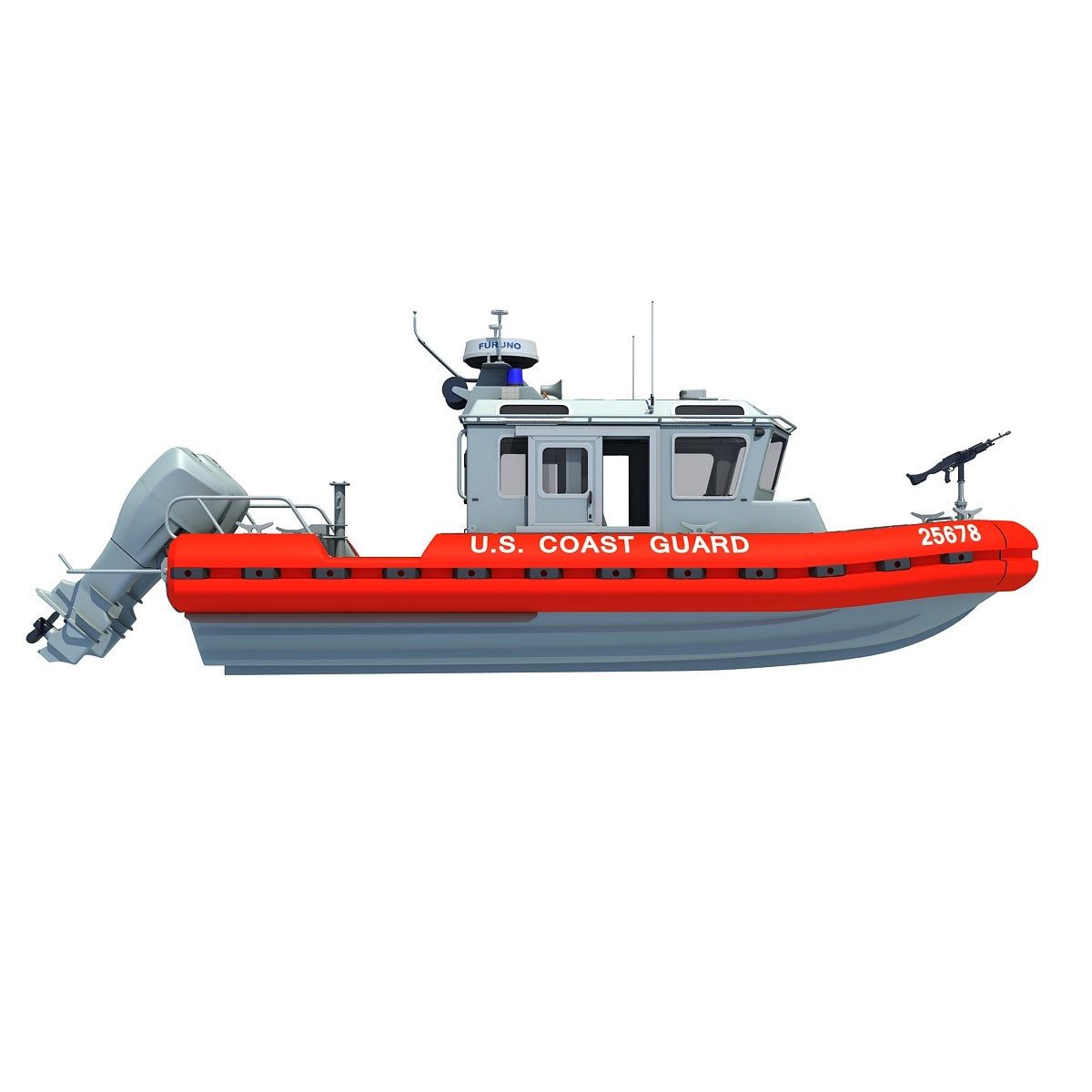 Coast Guard Defender Boat 3D Model