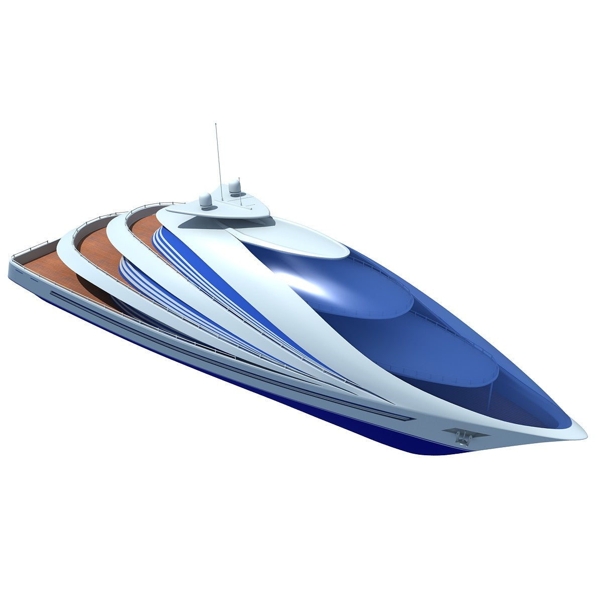 Luxury Yacht 3D Models