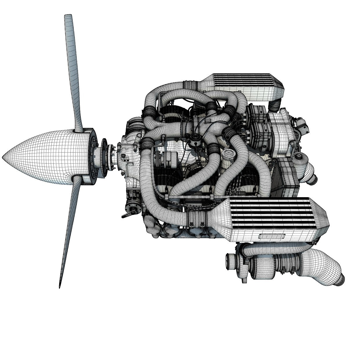 Aircraft Engine 3D Models