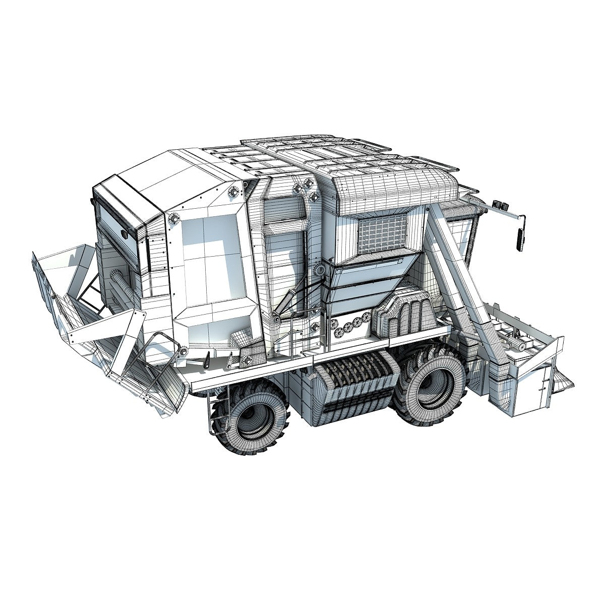 Cotton Picker 3D Model