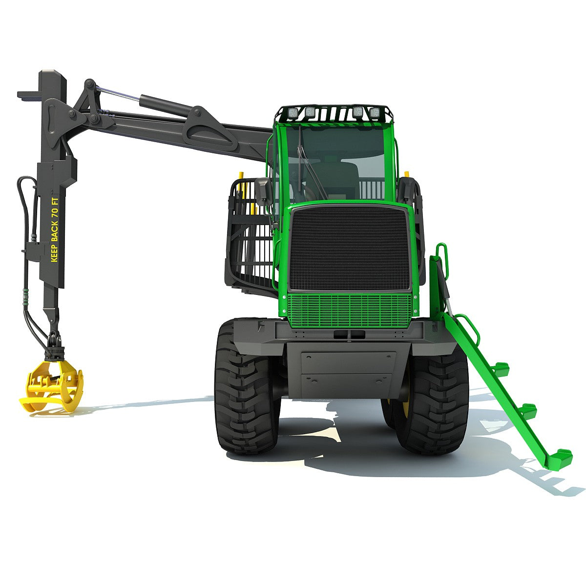Forwarder Forestry 3D Model