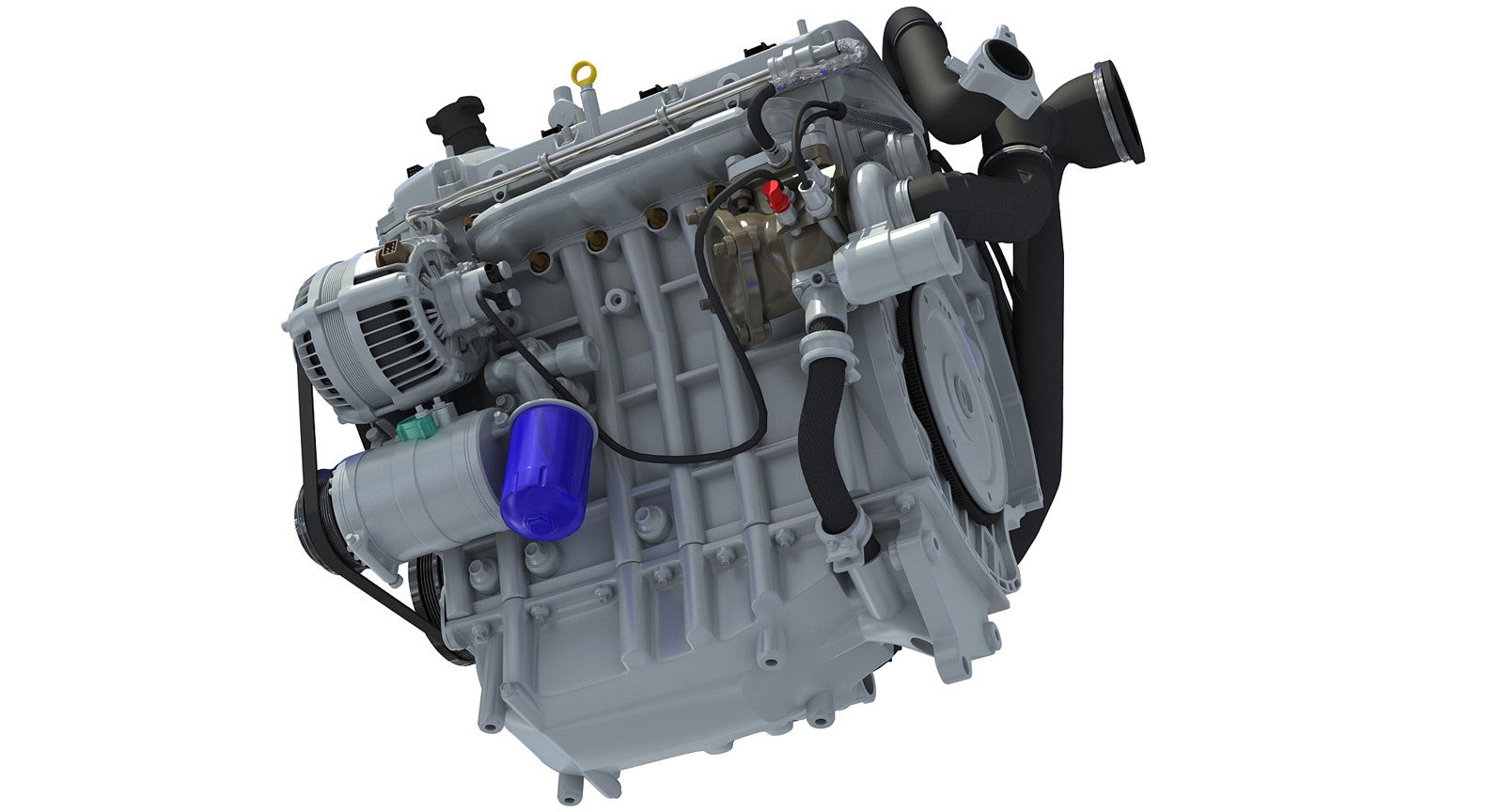 Direct Injection Engine 3d Model