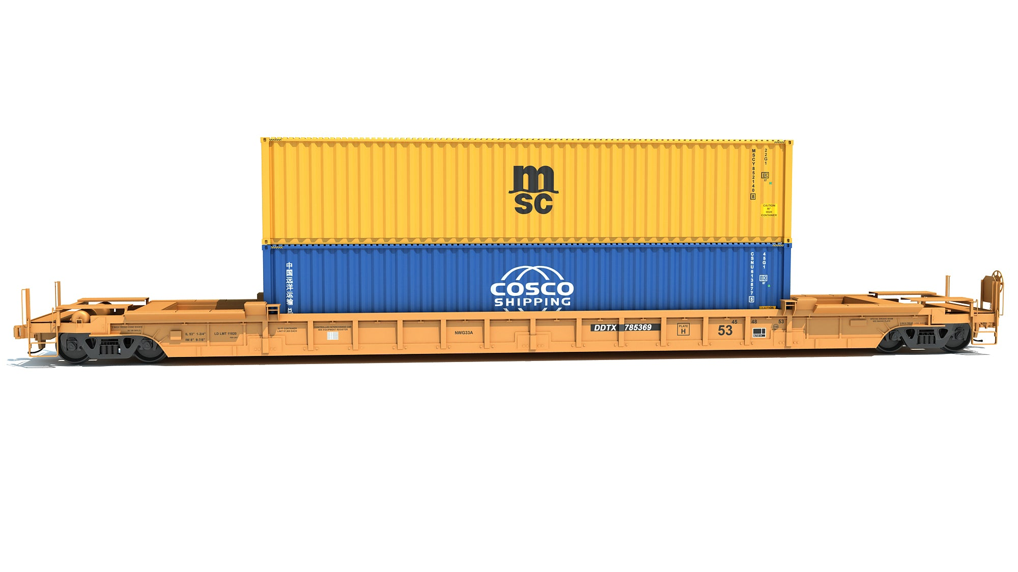 Railroad Double Stack Car