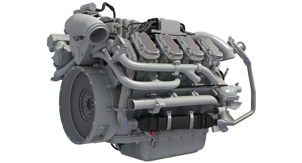 Euro 6 Diesel Engine 3D Model