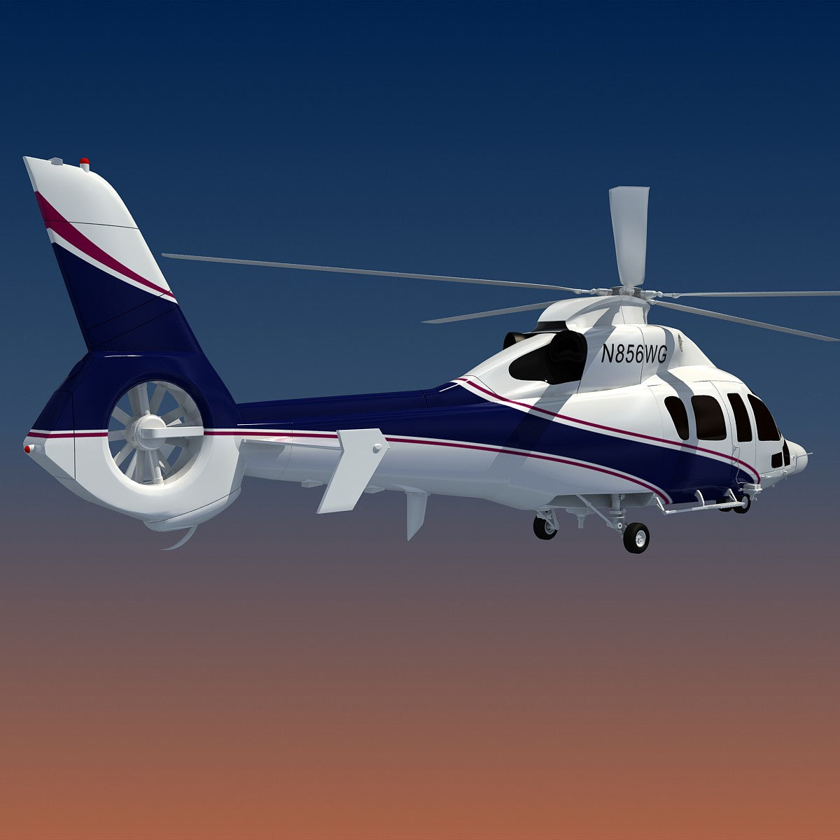 Eurocopter Helicopter 3D Model