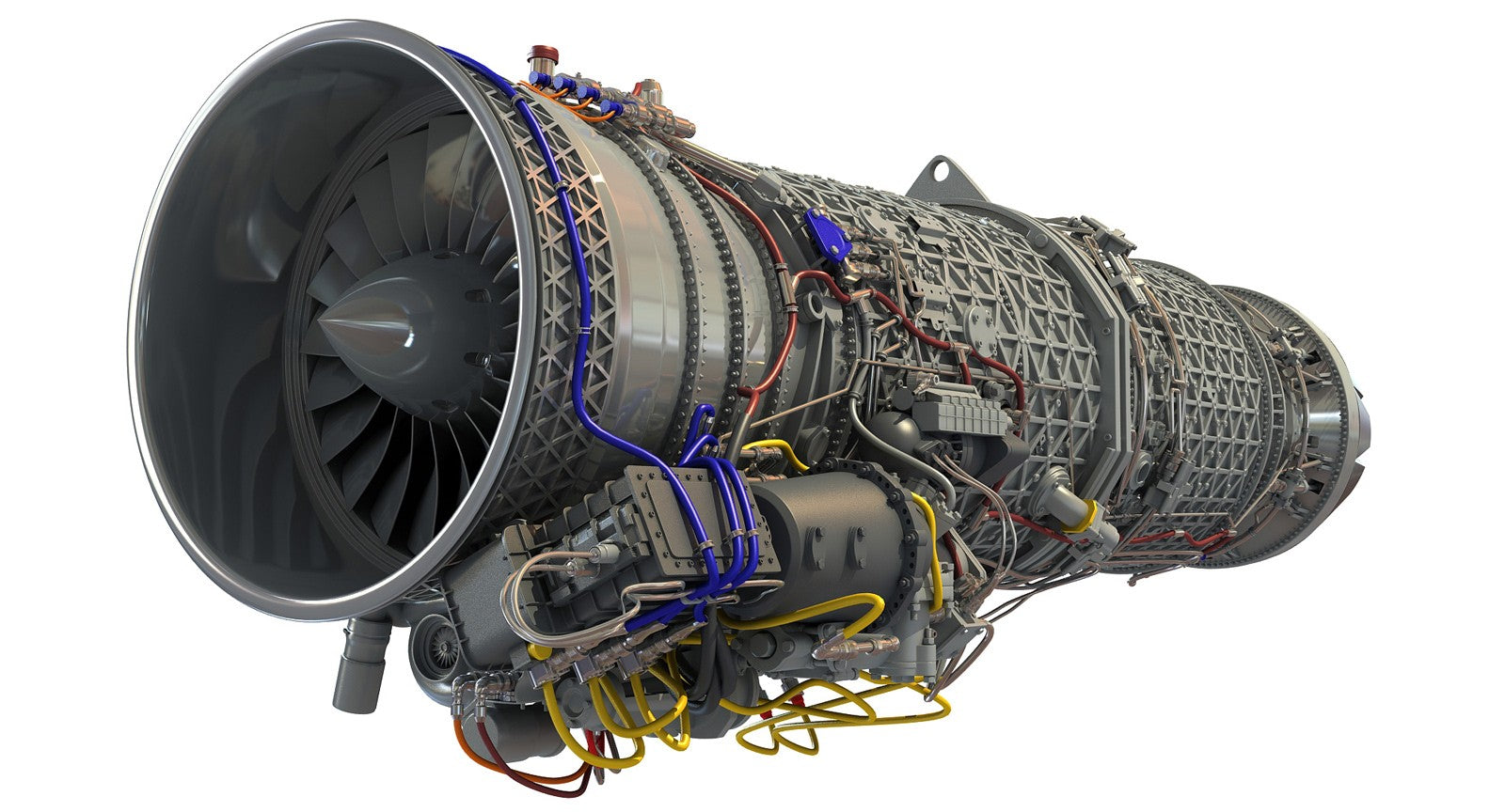 Eurojet Turbofan Jet Engine 3D Model