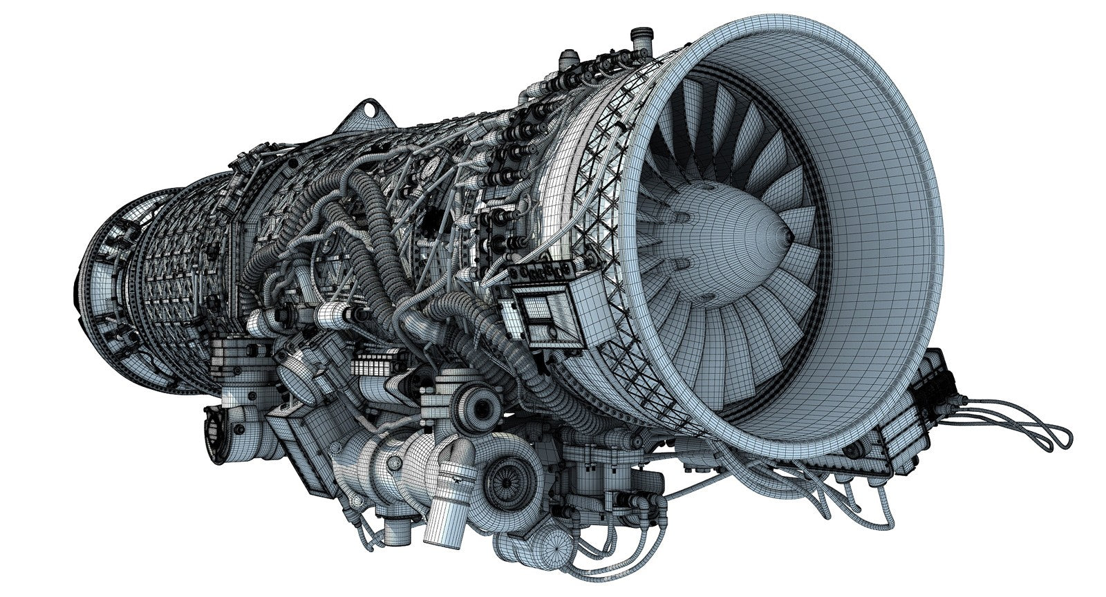 Turbofan Jet Engine 3D Models
