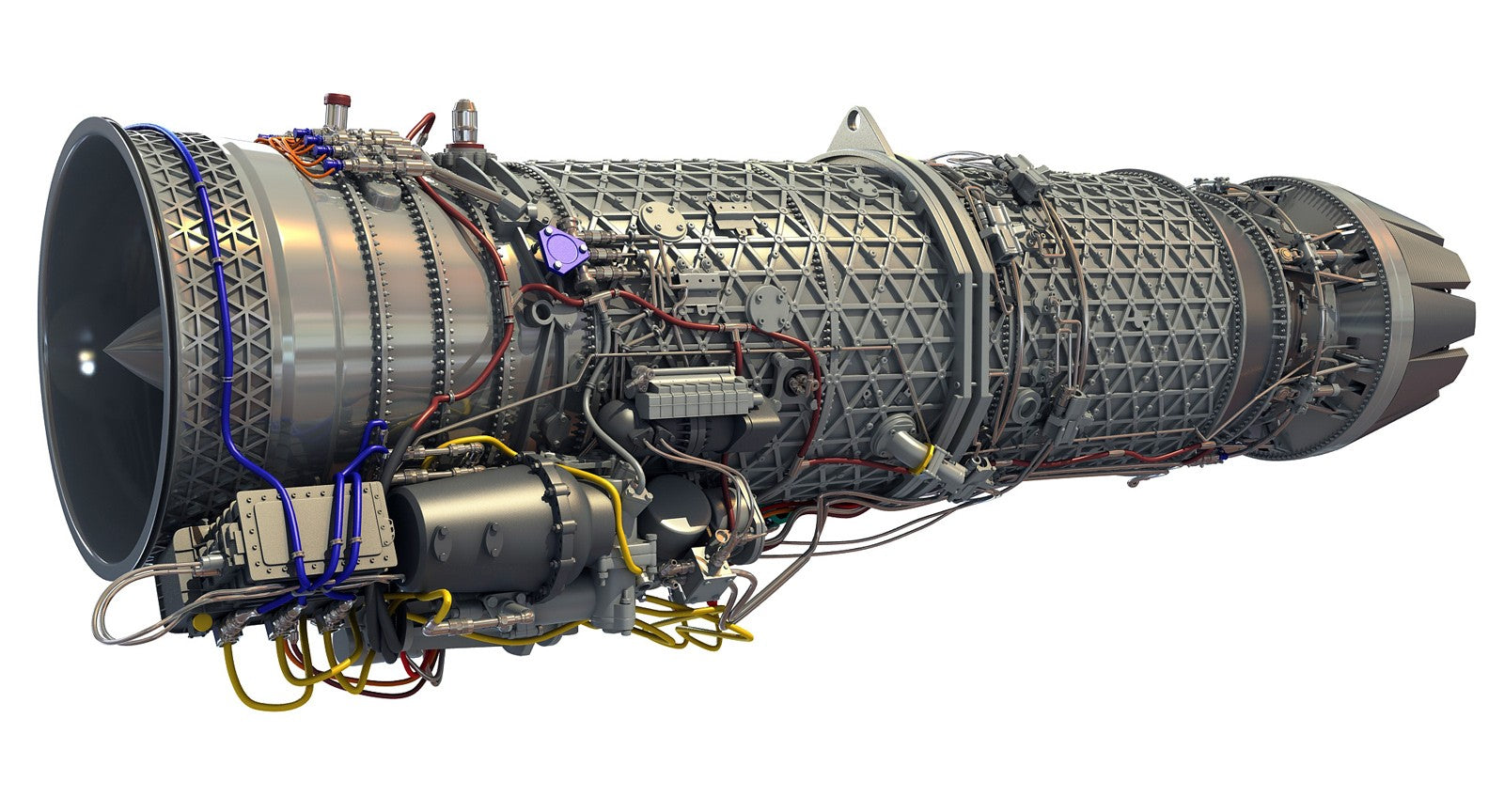 Eurojet EJ200 Turbofan Jet Engine 3D Model
