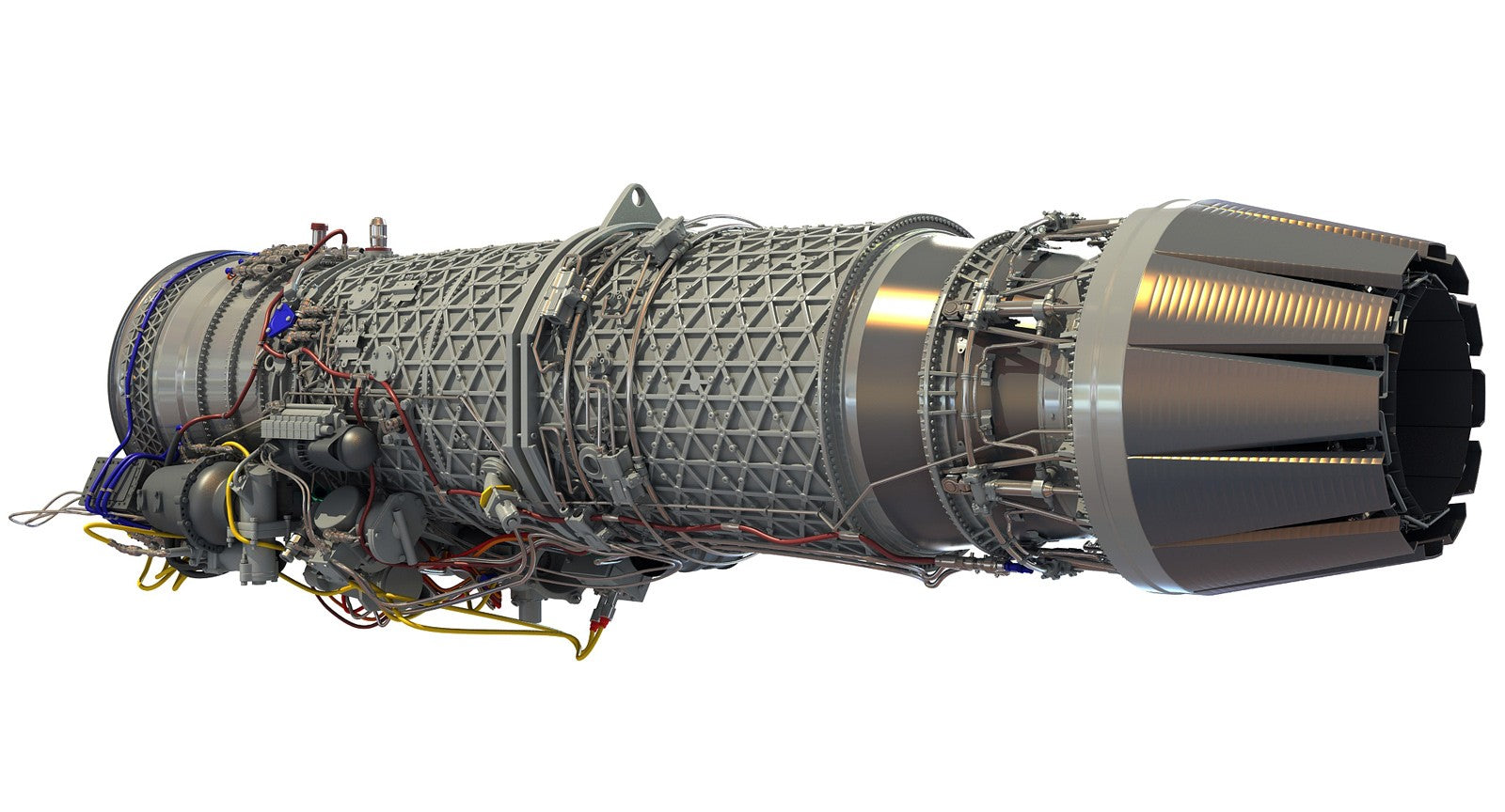 Turbofan Jet Engine 3D Model