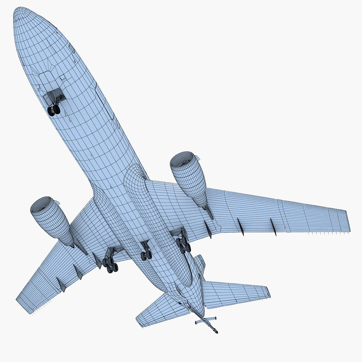 3D Refueling Aircraft Model
