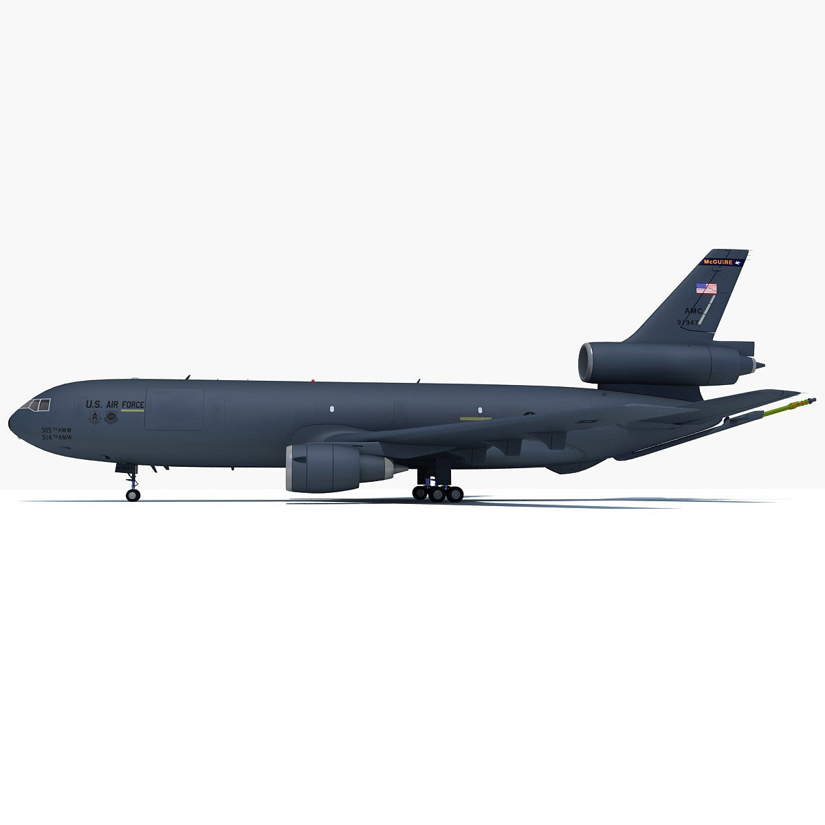 3D Extender Refueling Aircraft Model
