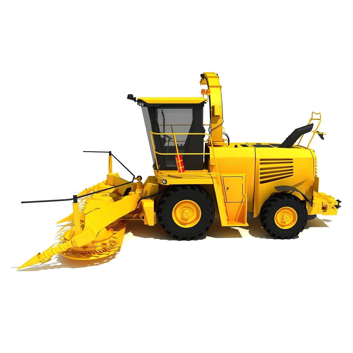 Forage Harvester 3D Model
