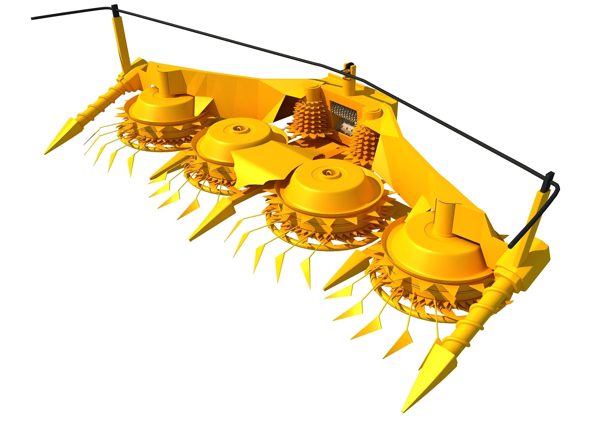 Combine Forage Header 3D Model