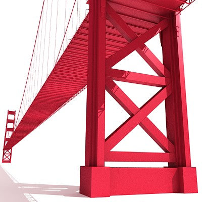 Golden Gate Bridge 3D Model