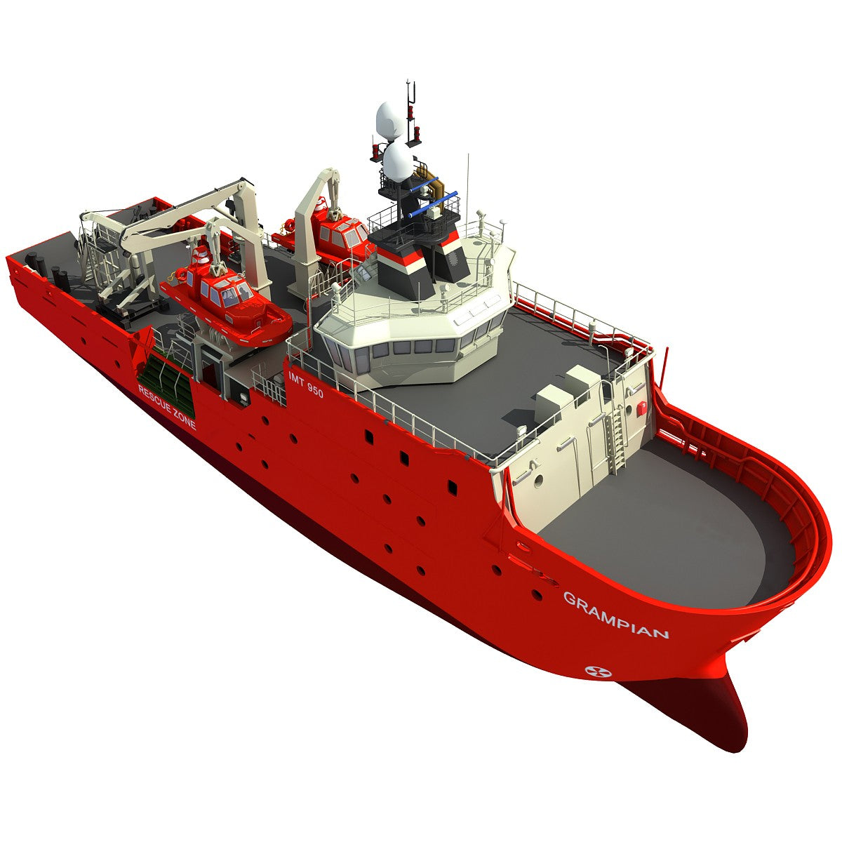 Grampian Rescue Ship 3D Model