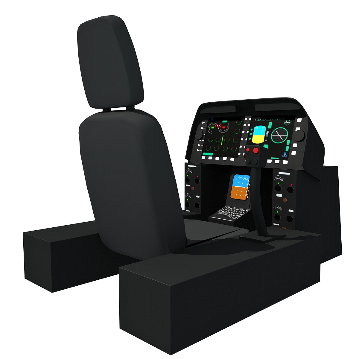 Helicopter Cockpit 3D Model