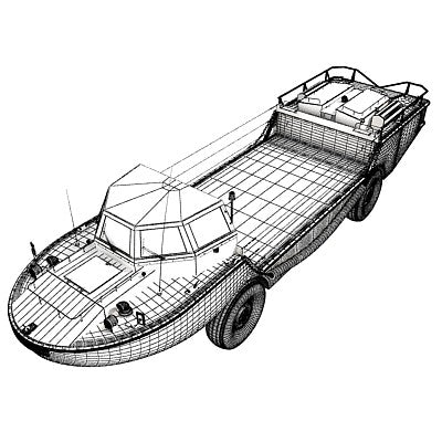 Army Amphibious Vehicle LARC-V Model