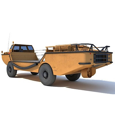 Army Amphibious Vehicle LARC-V 3D Model