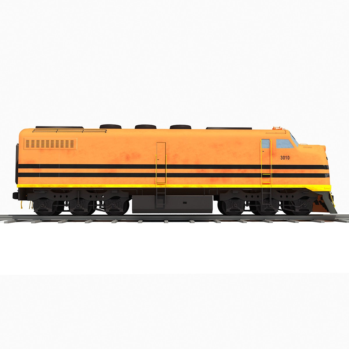 Locomotive Train 3D Model