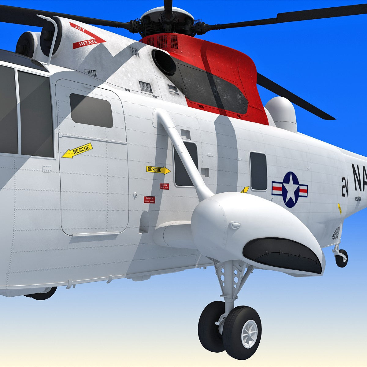 3D Helicopter Sikorsky Model
