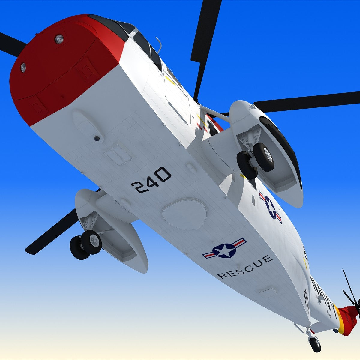 3D Helicopter Sikorsky SH-3 Sea King