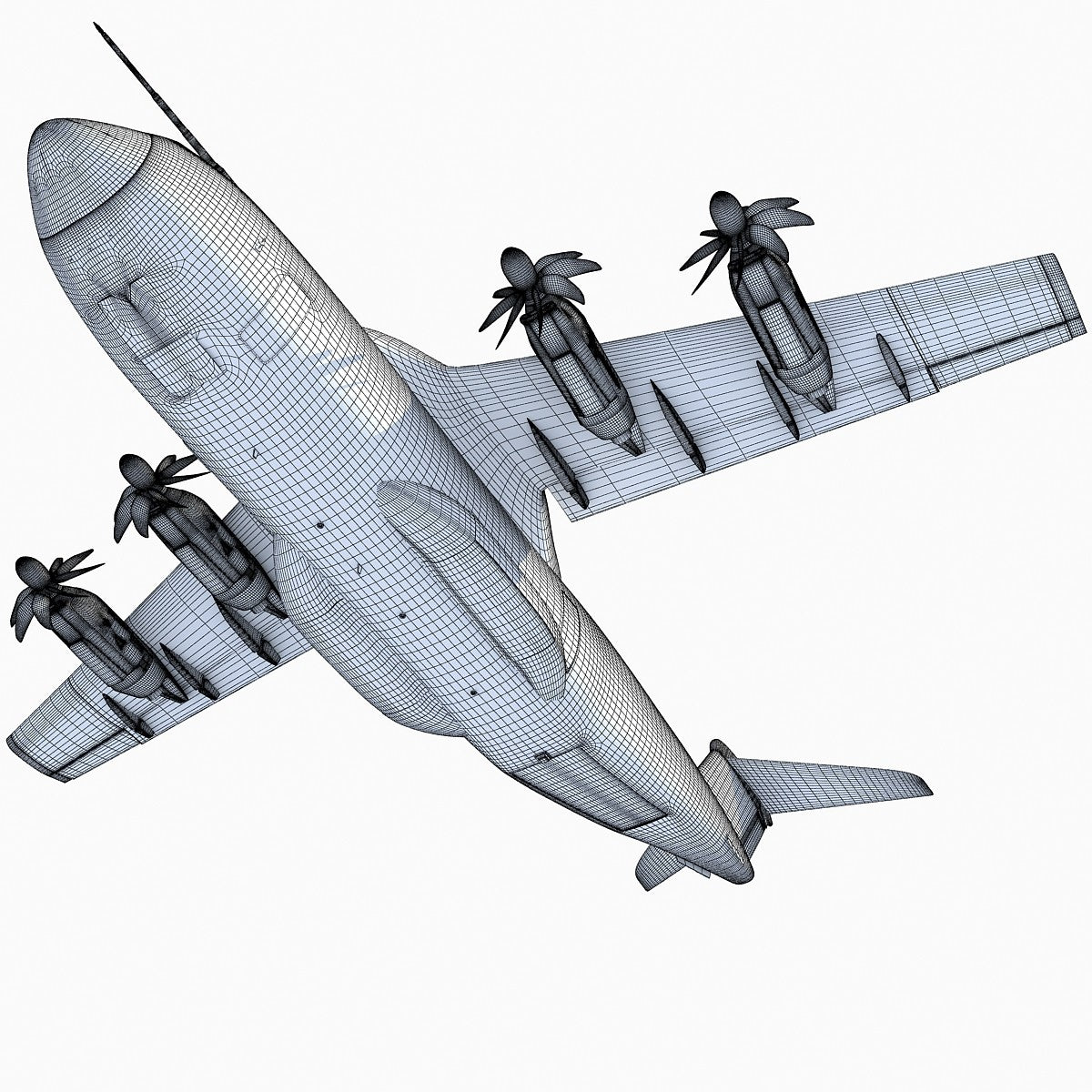 Airbus A400M Atlas 3D Model