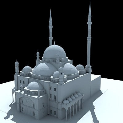 Mohamed Ali Mosque 3D Model
