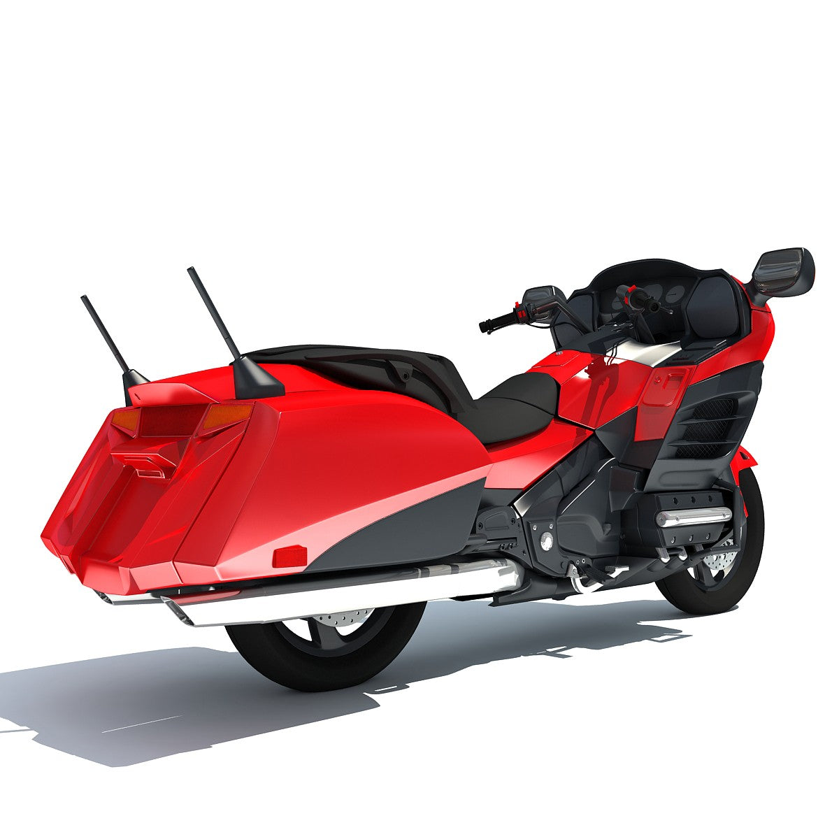 Honda Goldwing 3D Model