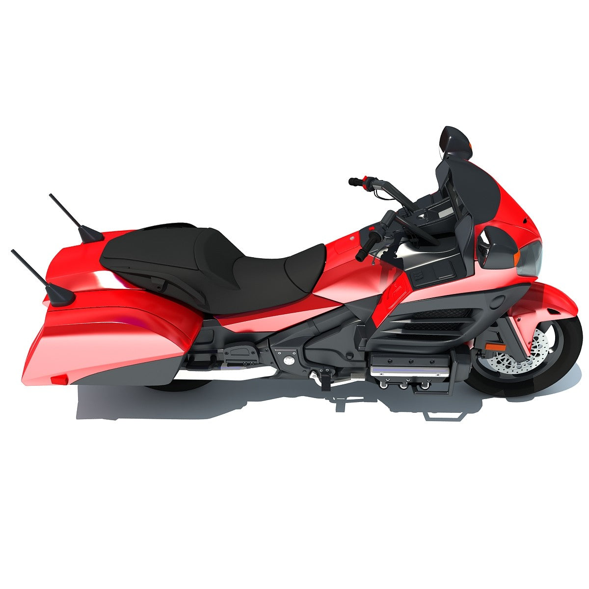 Honda Goldwing Motorcycle 3D Model