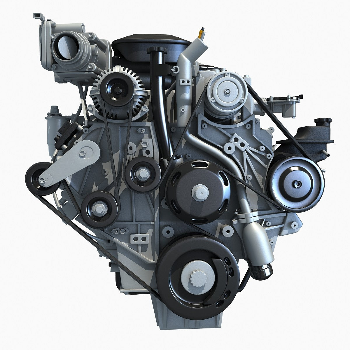 Duramax Chevrolet Silverado 3d Engine Model Horse Diesel Diagram