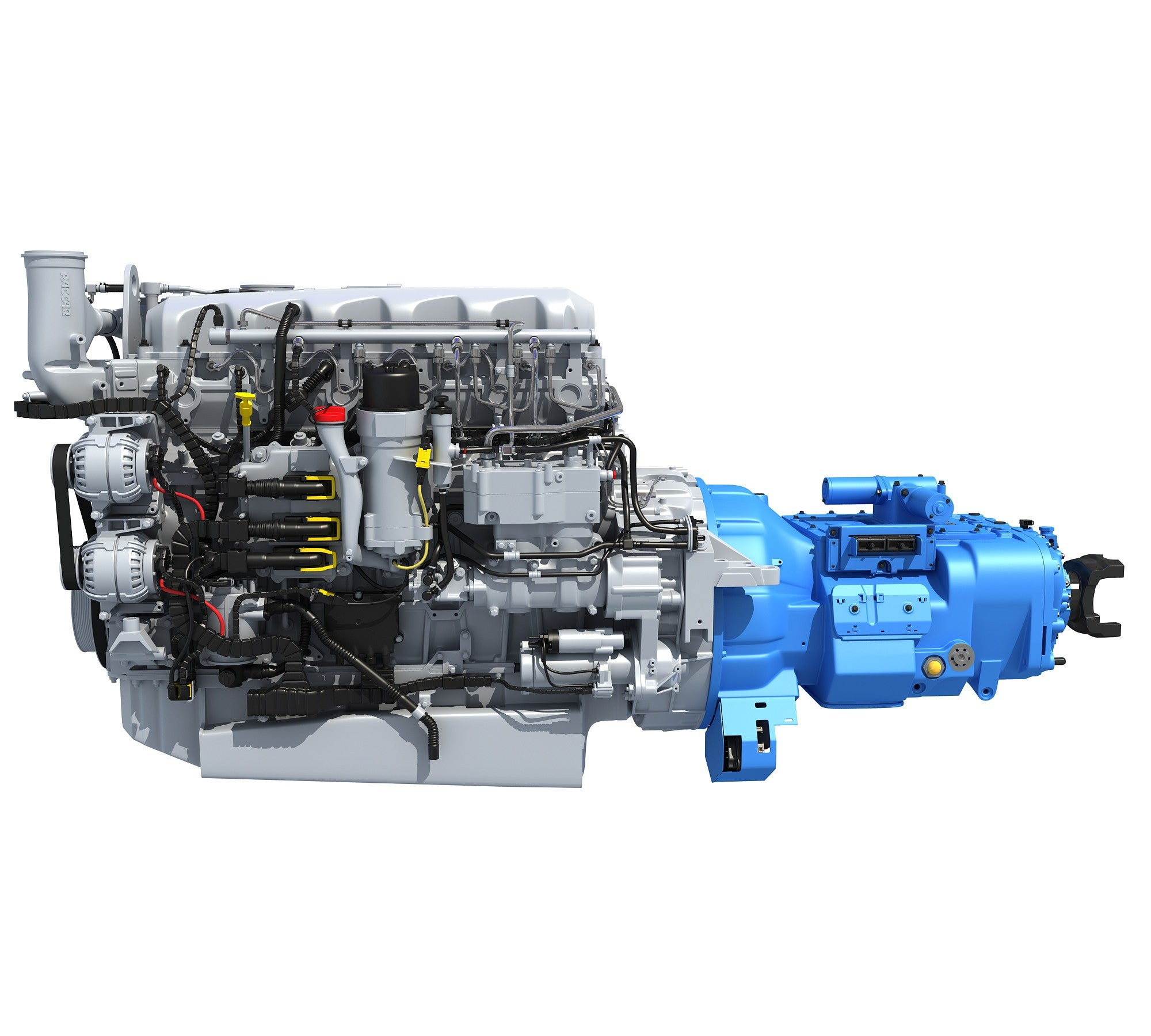 Engine And Transmission >> Paccar Mx 13 Engine With Transmission 3d Horse
