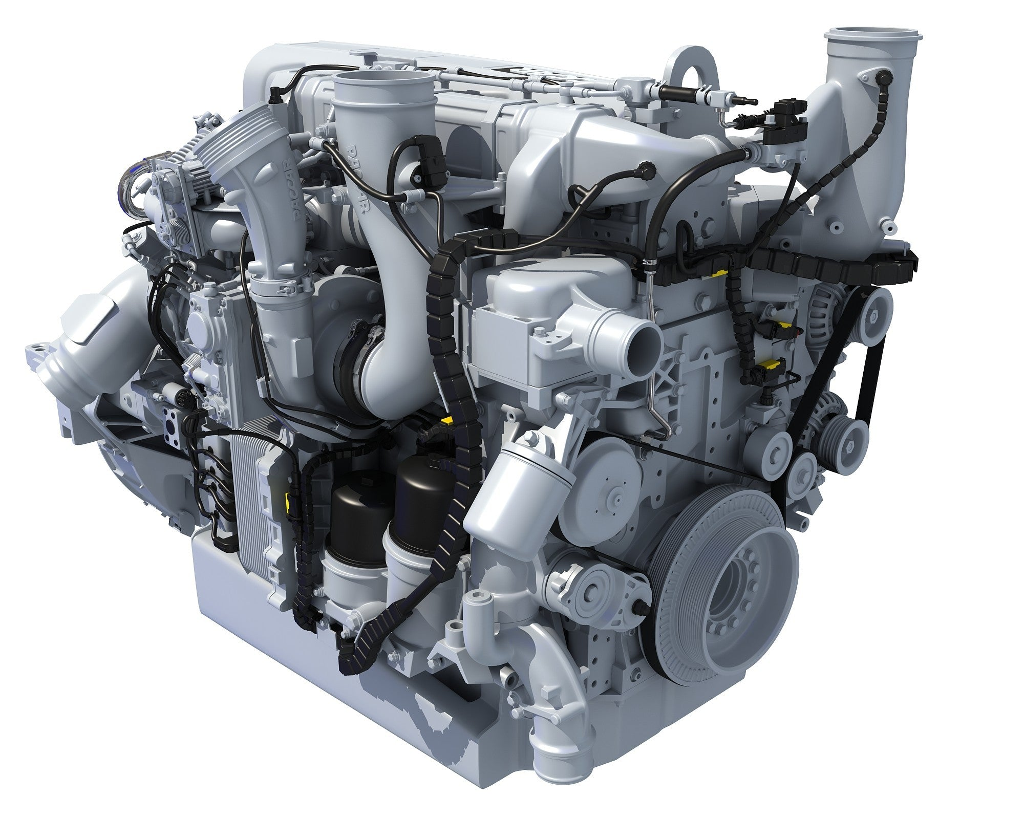 3D Powertrain Truck Engine Model