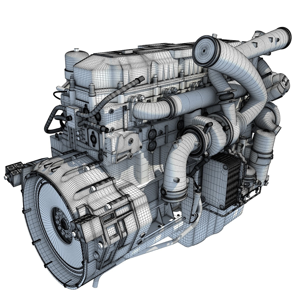 Truck Engines 3D Models