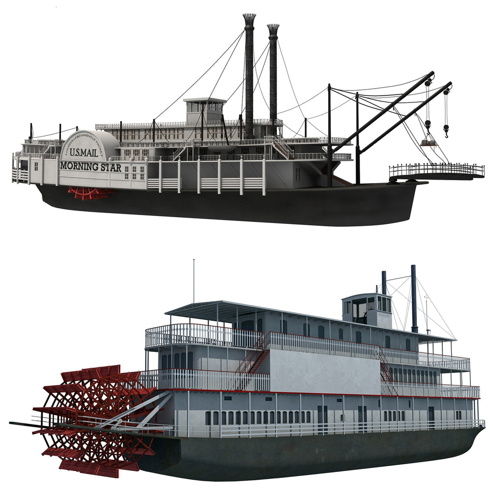Paddle Steamer and River Boat