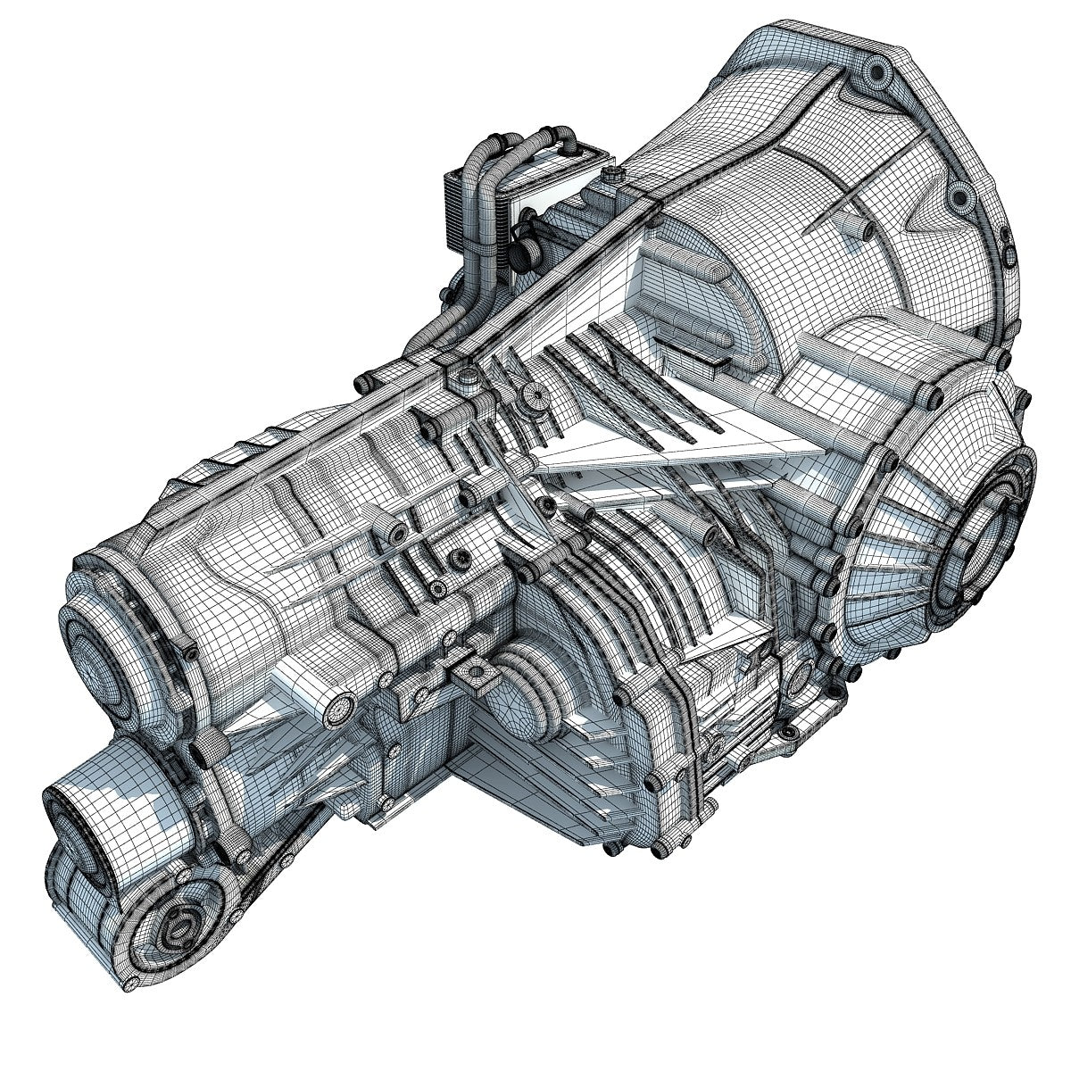 3d Gearbox Transmission Model