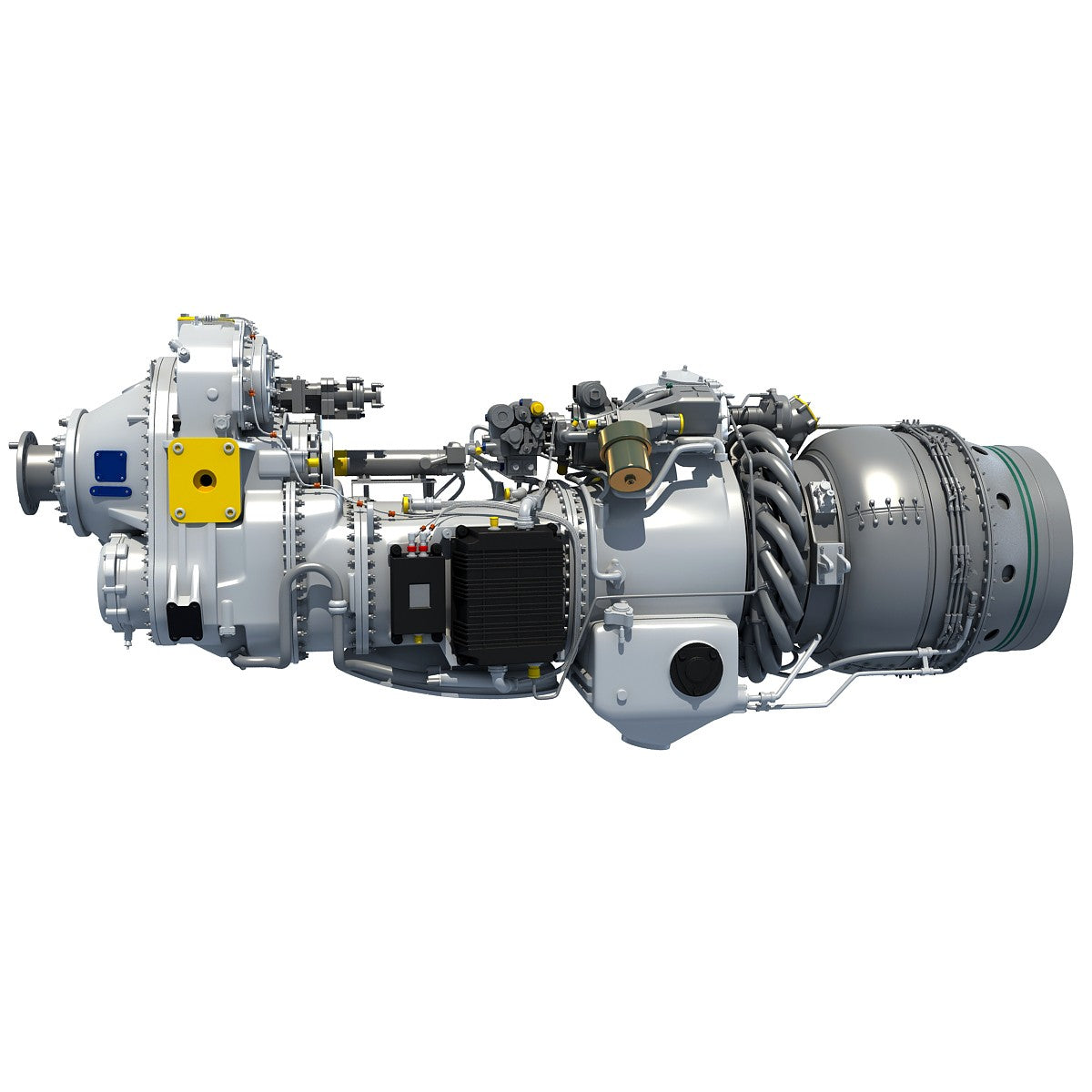 Pratt & Whitney PW100 Turboprop 3D Engine Model