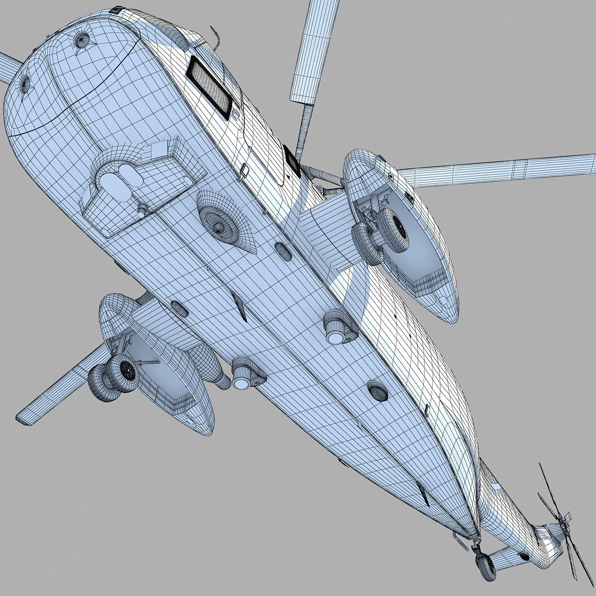 3D Marine One Sea King Helicopter Model