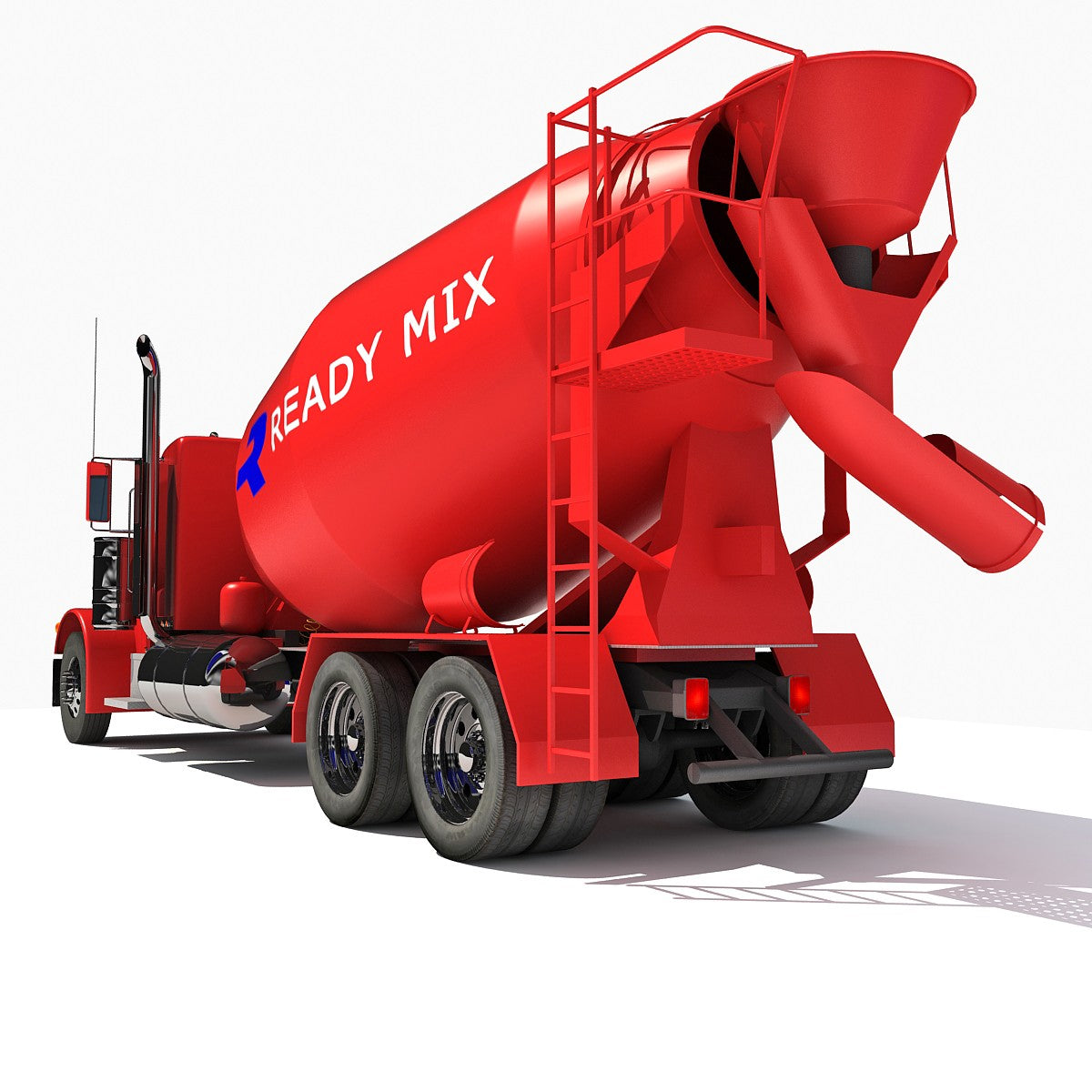 Concrete Mixer 3D Model