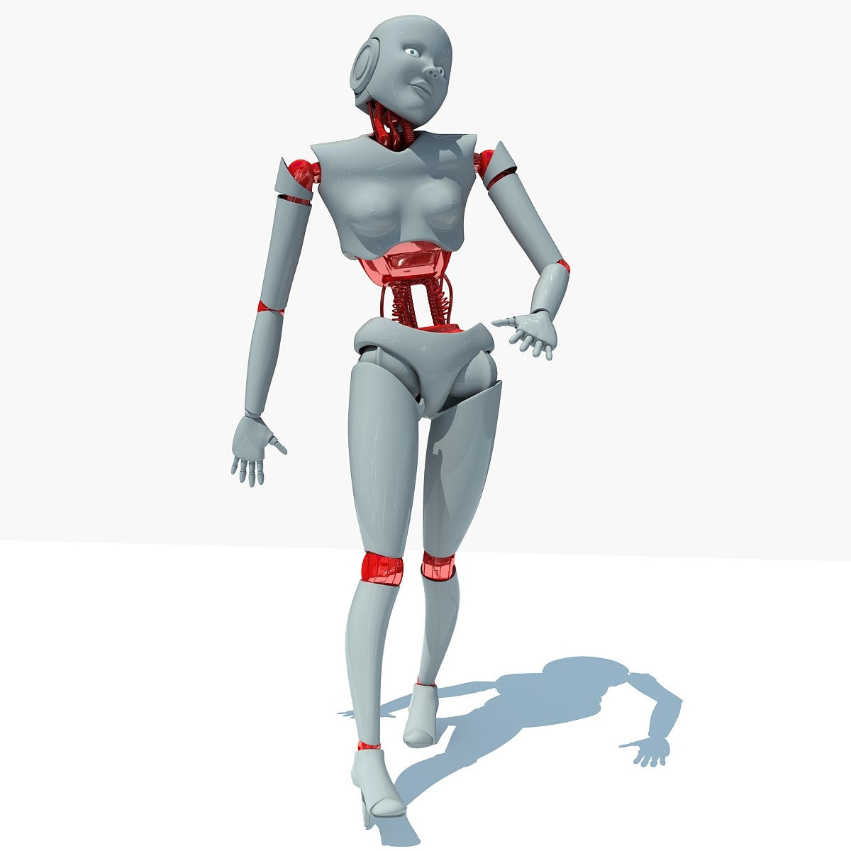 Female Robot 3D Model