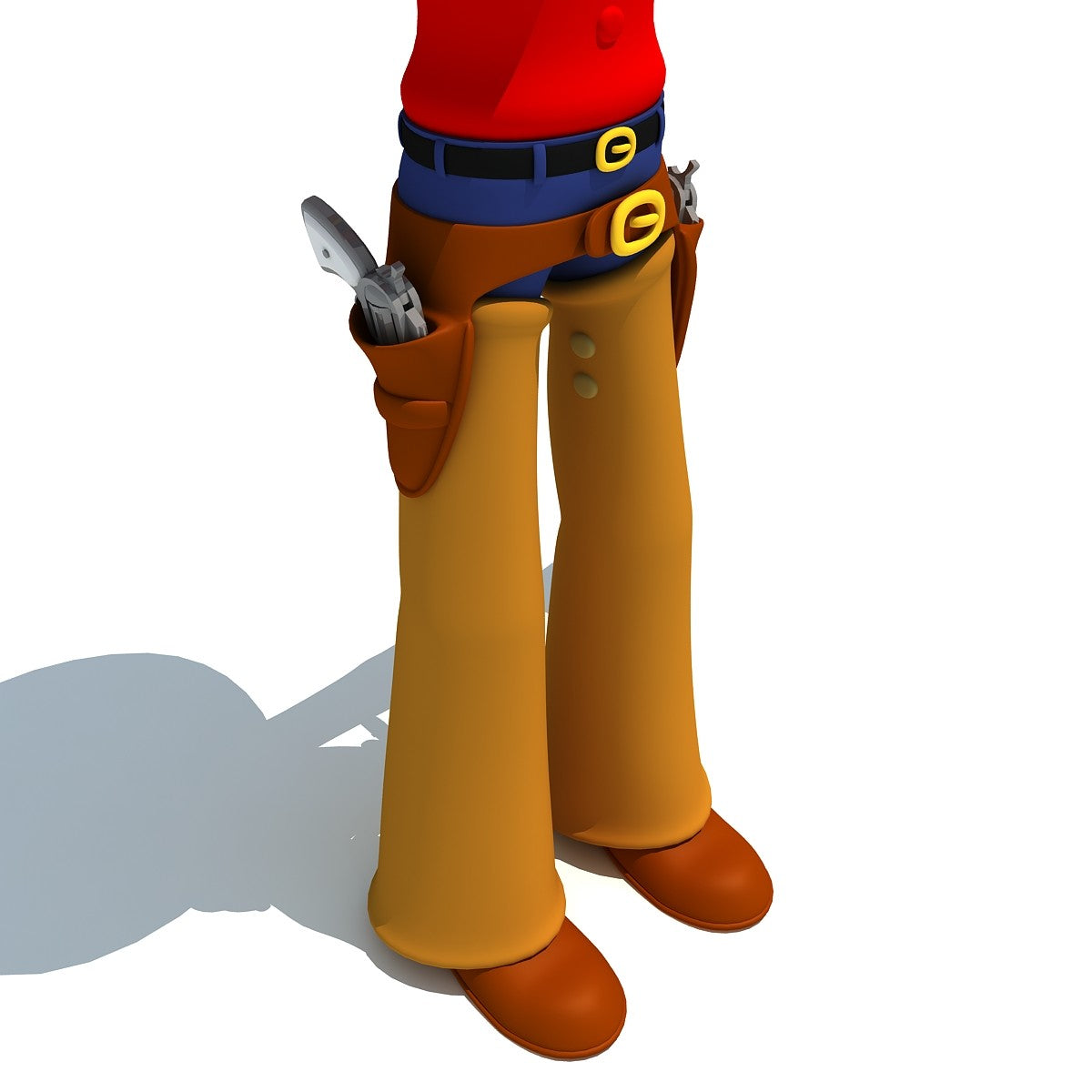 Rigged Cartoon Cowboy 3D Model