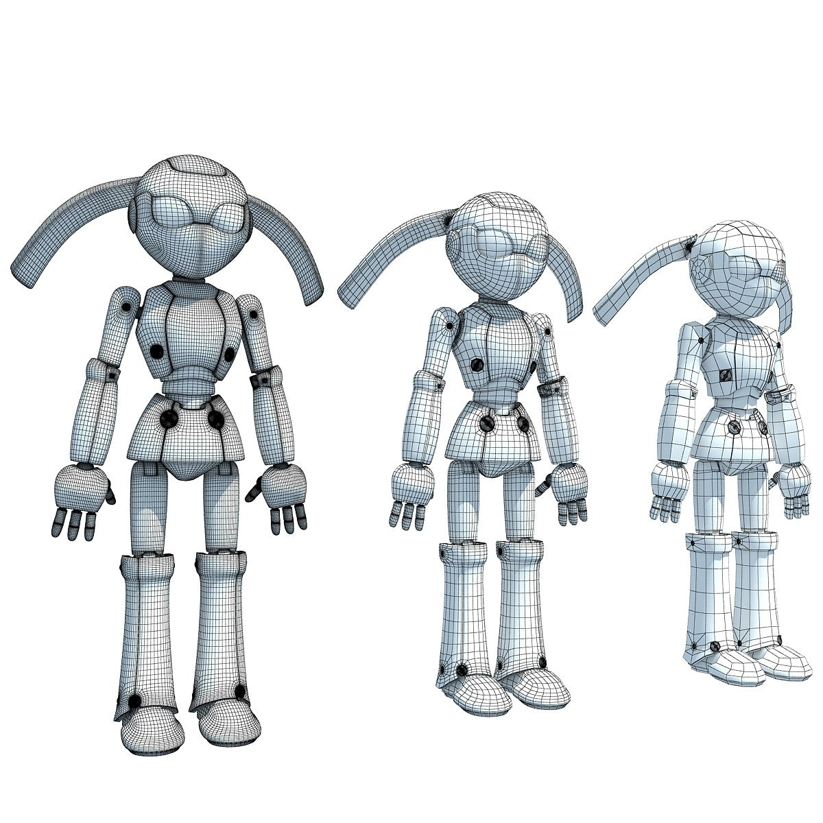 Rigged Robot 3D Model
